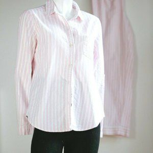 Victorias Secret Pink White Silver Striped Pajamas